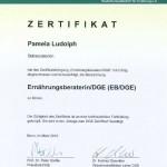 Zertifikat der deutschen Gesellschaft für Ernährung, DGE
